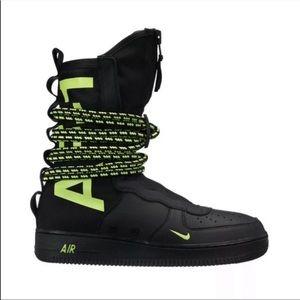 New Nike sf air force one high black volt